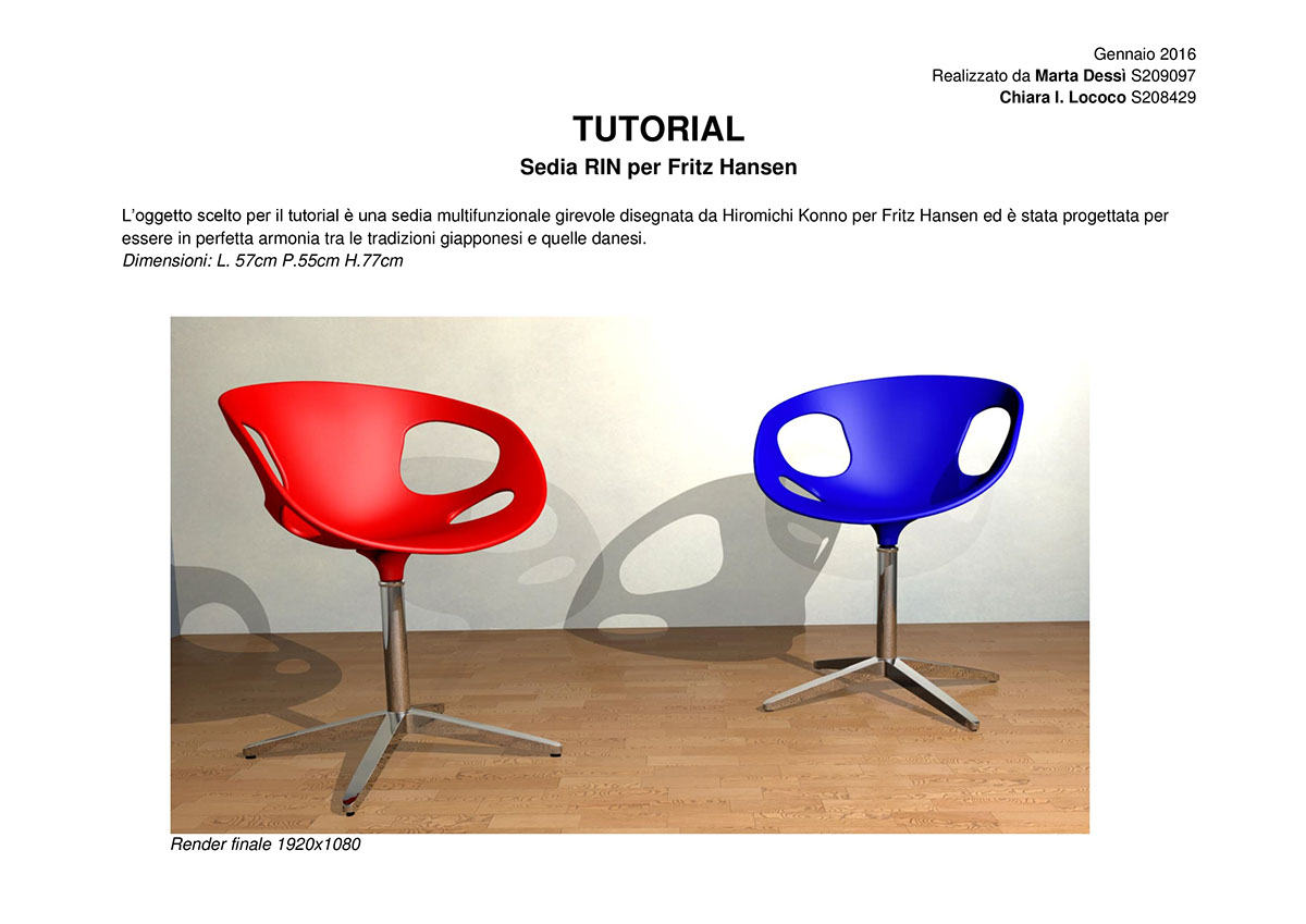 Rin chair modeling and rendering 3d tutorial on pantone canvas gallery rin chair modeling and rendering 3d tutorial baditri Image collections