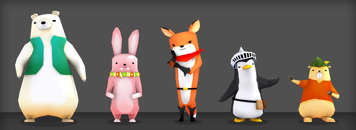 3d Character Design Behance : D art animal character design on behance