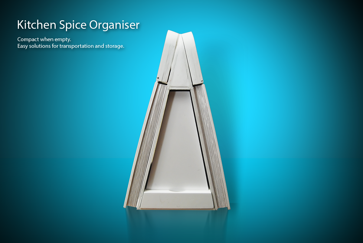 Academic project for product design - Spice organiser on Behance