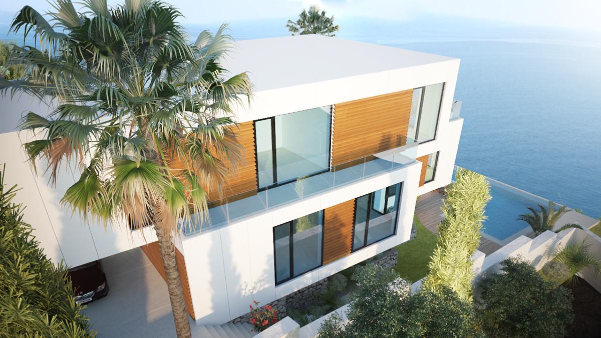 cliff house Sea house Modern Villa sea villa