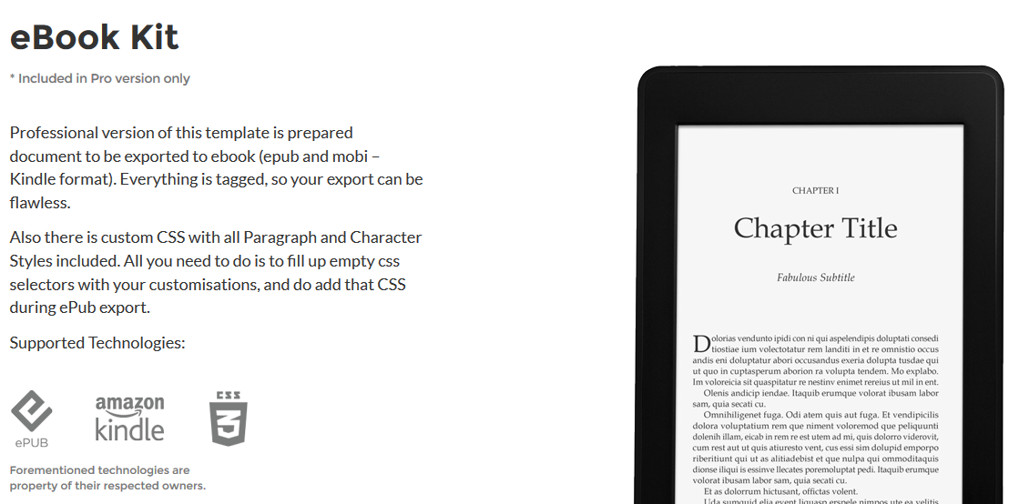 Antique - Advanced, Book + Ebook, InDesign Template on Behance