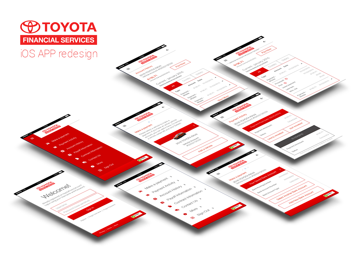 Toyota Financial Services IOS App Redesign (concept) On Behance