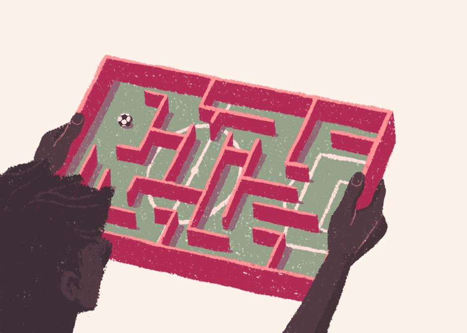 editorial soccer football calcio brain iq test Big Data puzzle boardgame