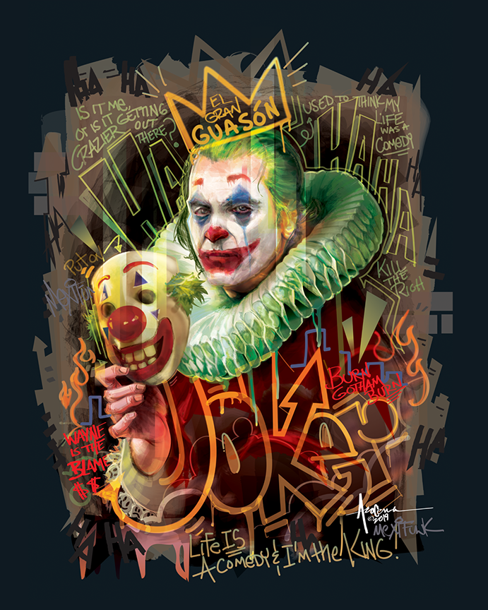 vector vector art mexifunk orlando arocena movie poster poster harley quinn joker Dc Comics  grafitti