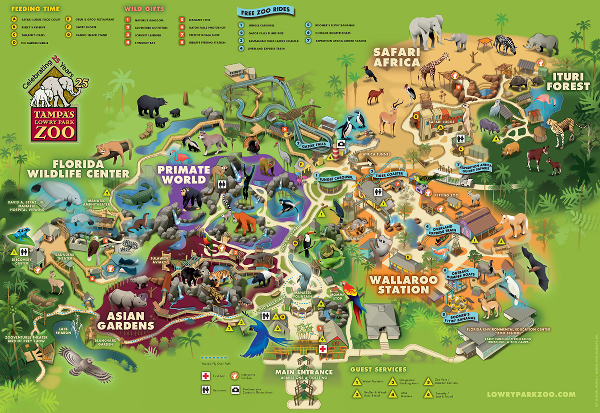 Lowry Park Zoo Map Lowry Park Zoo, Florida on Behance
