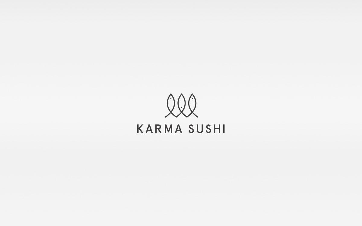 Sushi restaurant japanese danish logo identity red grey