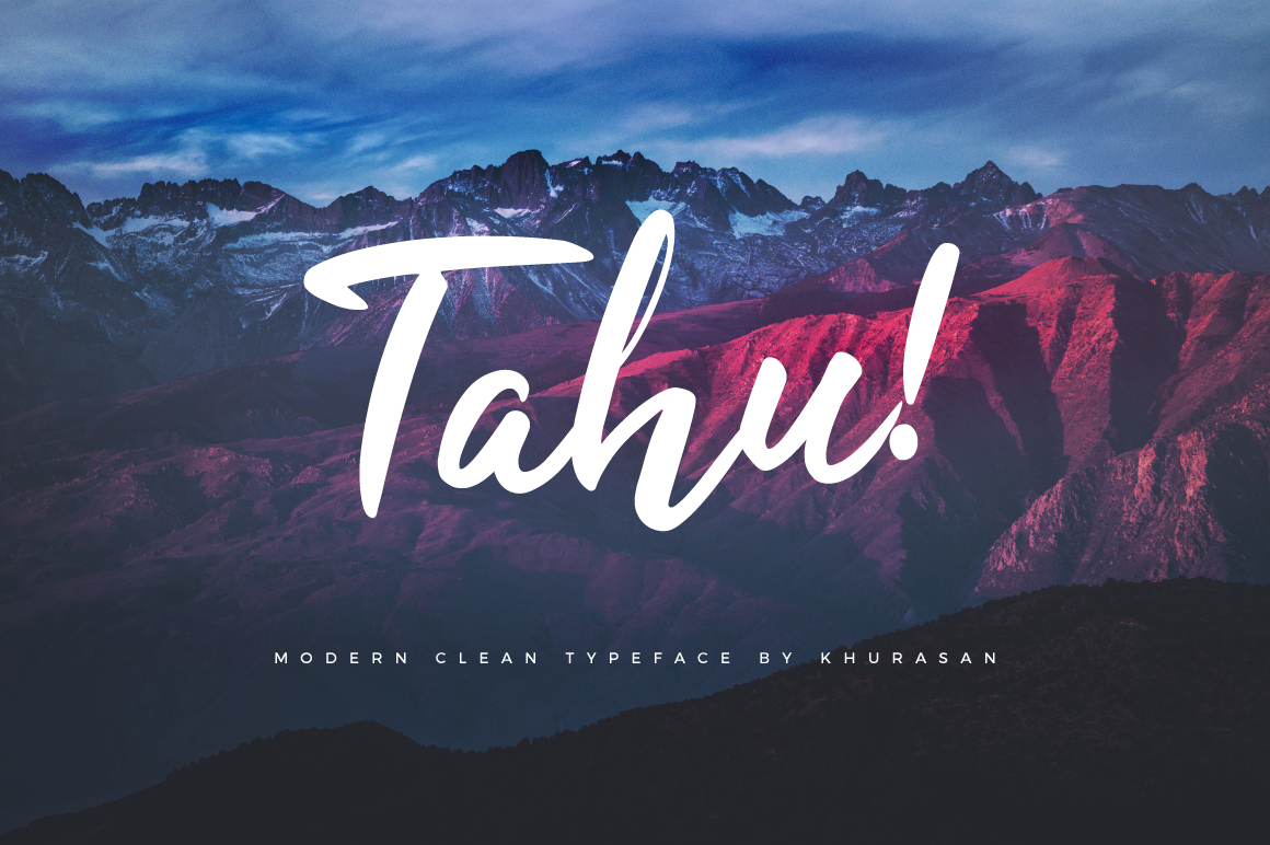 Introducing You To A Clean And Professional Modern Script Font Tahu Use It For Ads Logos Branding Or Anything That Youll Need This Is Free