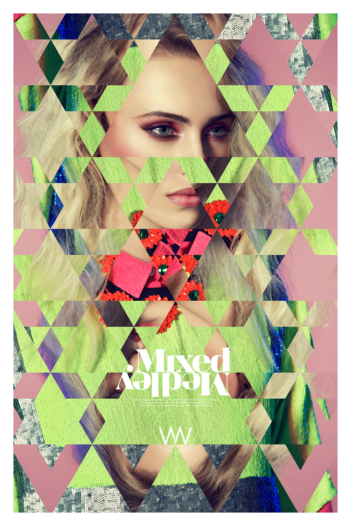 graphic styling  photo story Mixed Medley Drew Wheeler Tim Jarvis neon fluoro