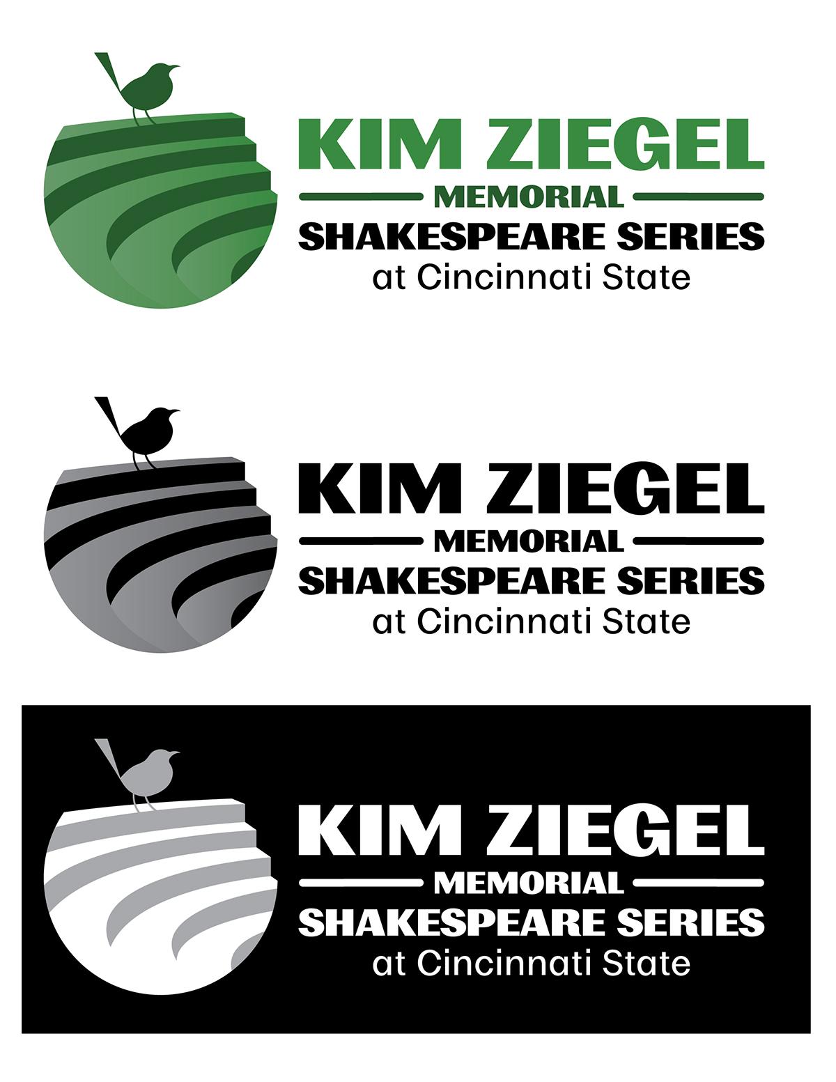 logo type typography   design shakespeare Memorial branding  Monochromatic
