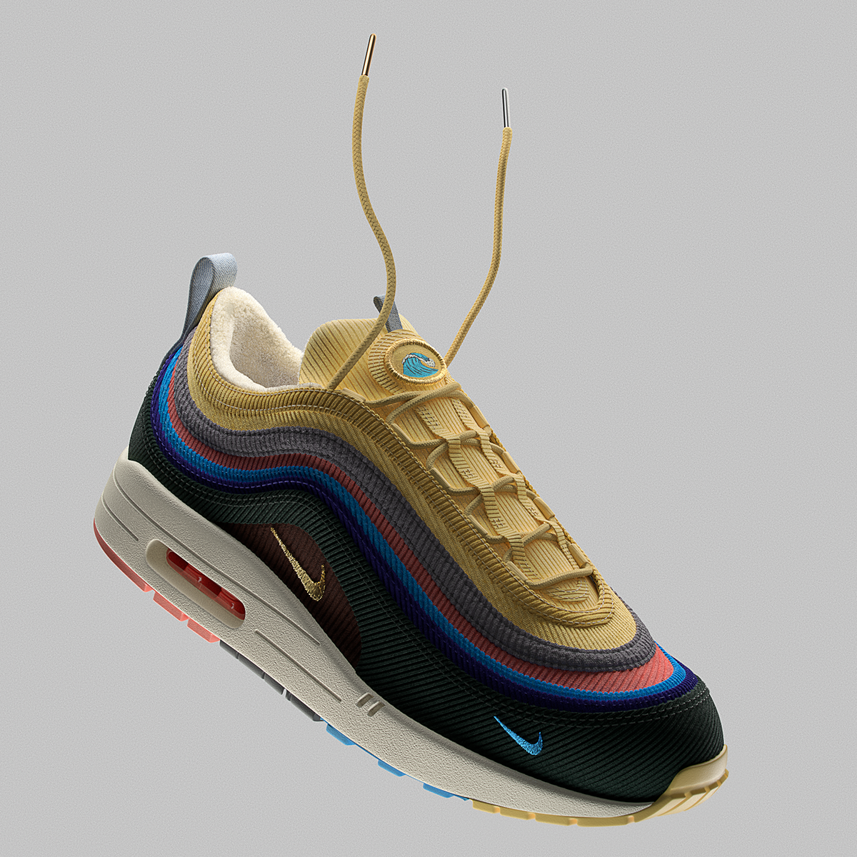 Nike Air Max 1/97 Sean Wotherspoon 3D on Behance