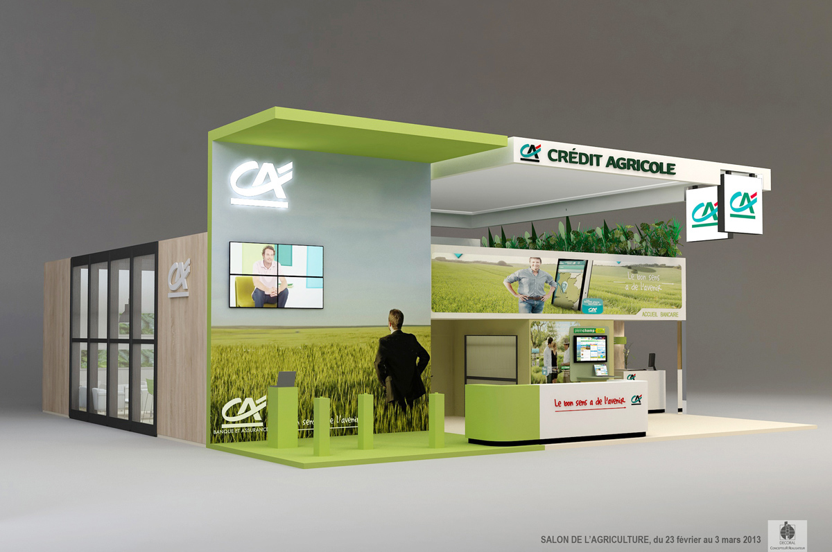 Stand credit agricole salon de l 39 agriculture 2013 paris on for Salon stand
