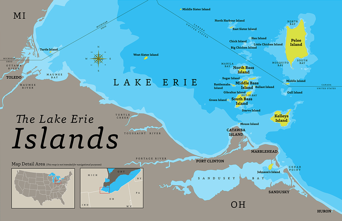 . the lake erie islands map on behance