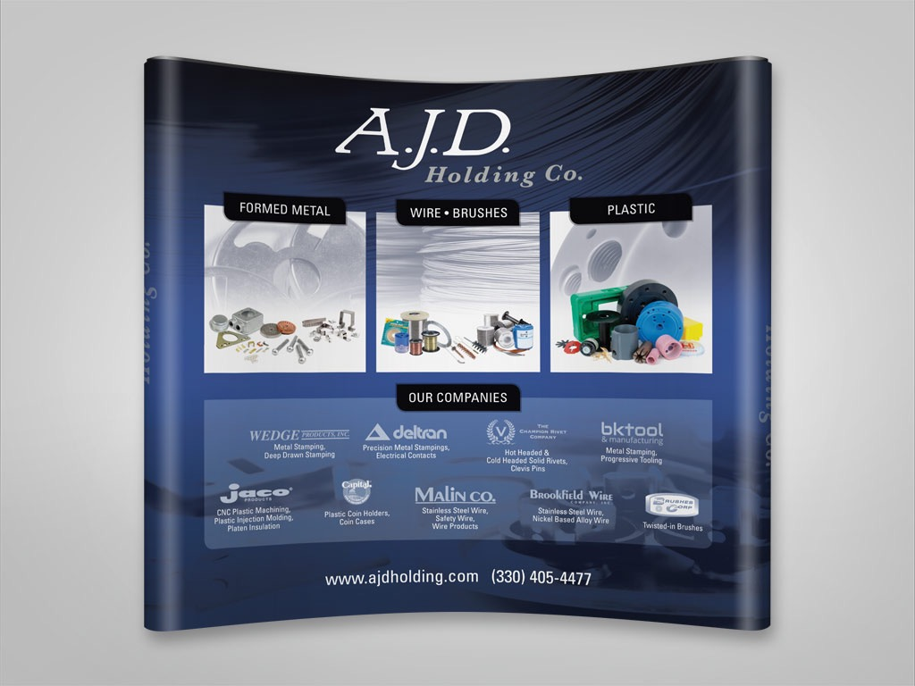 Trade Show Booth Graphic Design : A.j.d. large scale tradeshow booth graphics on behance