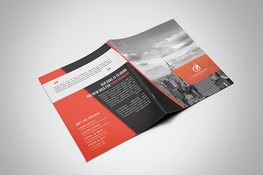 Bi fold tri fold brochure template on behance for Two fold brochure design