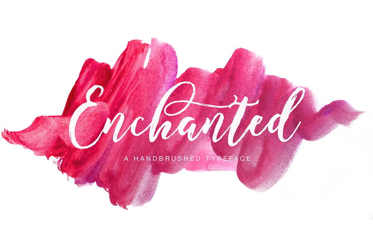 Enchanted Brush Script On Behance