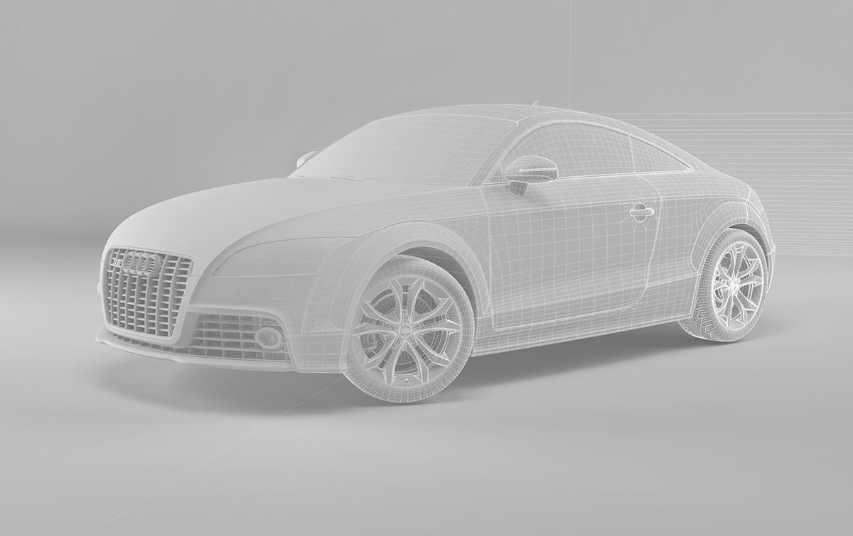 CGI Audi 3D car automotive   vray modelling