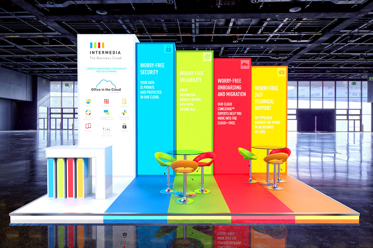 Custom Exhibition Stand Zone : Intermedia custom build exhibition stand on behance