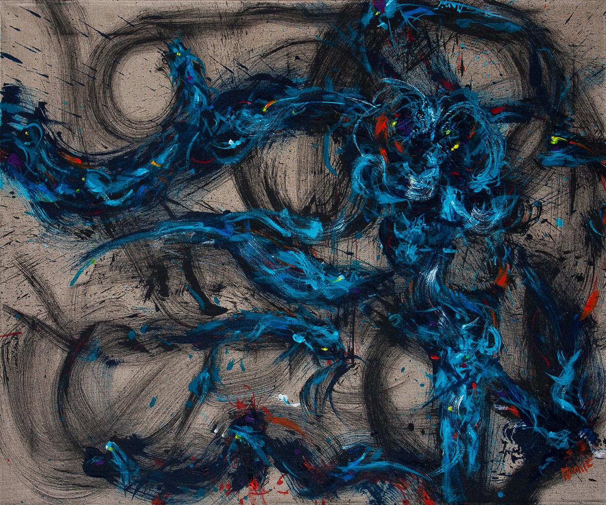 Dynamic fluid elegant meditative