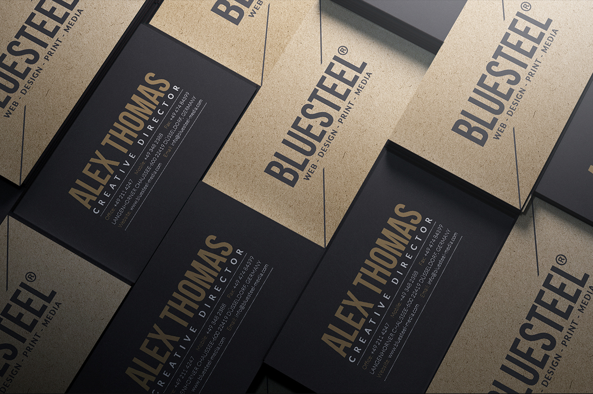 Kraft paper business cards bundle on behance using photoshop you can easily change the texts fonts colors layout and much more to create your own unique business card reheart Image collections