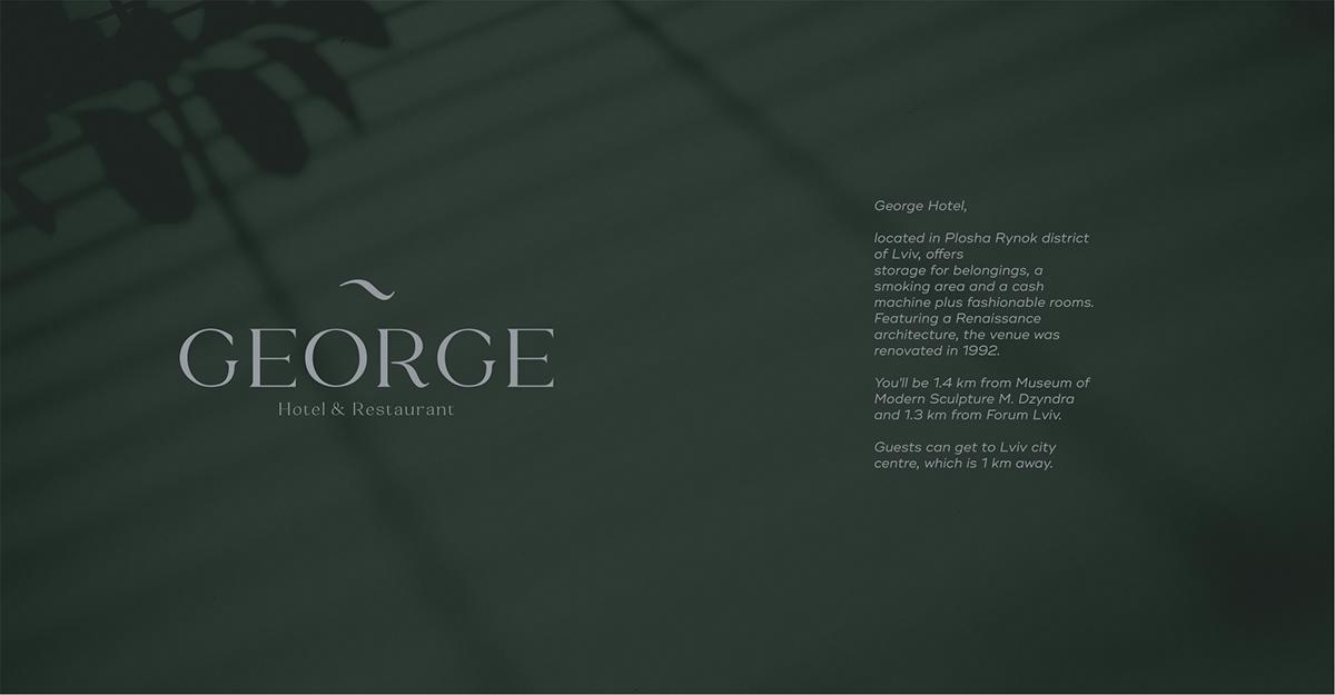 George Hotel Restaurant Branding On Student Show