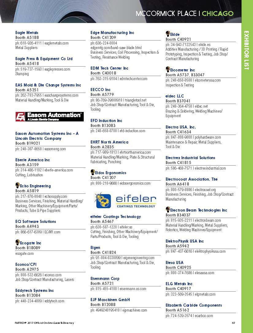 FABTECH Show Directory 2017 on Behance