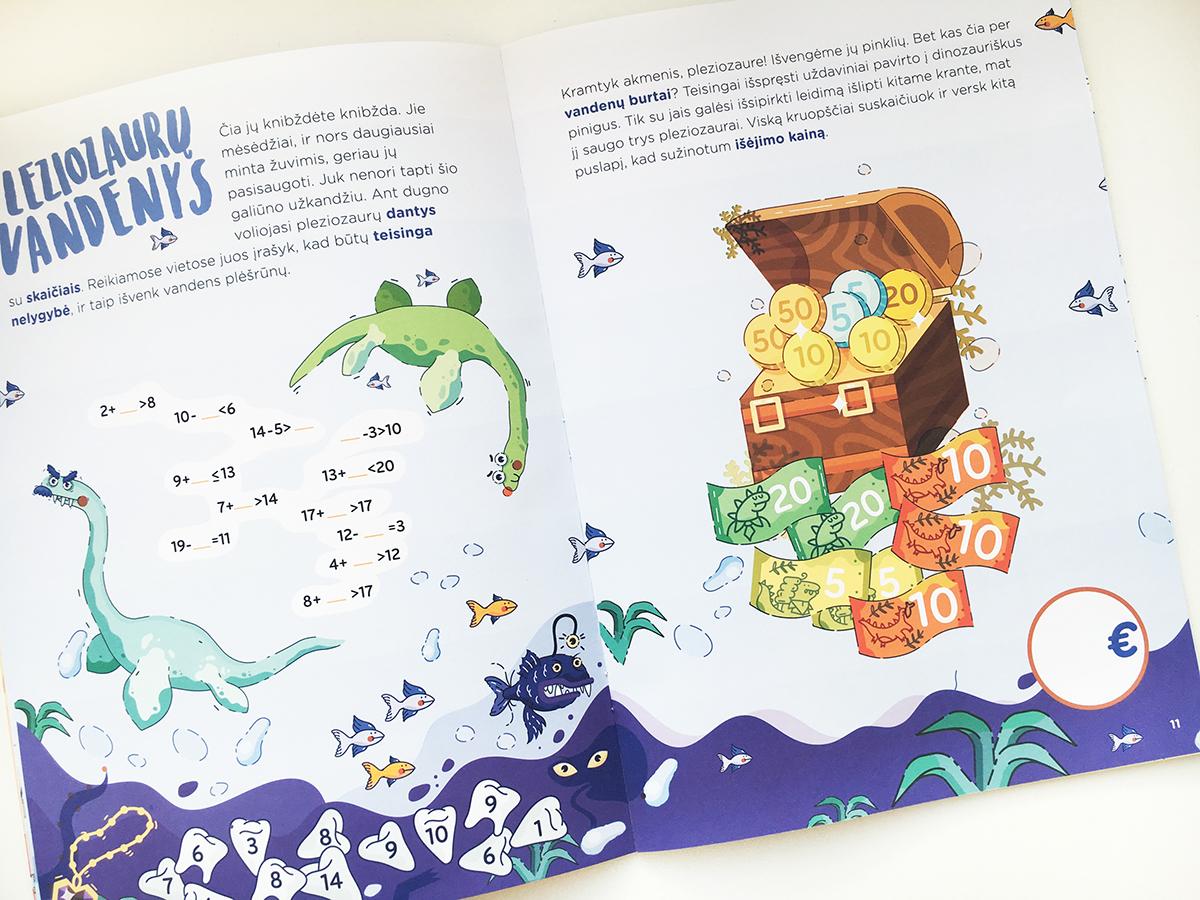 math excercise Education children publishing house editorial learning skills line ILLUSTRATION