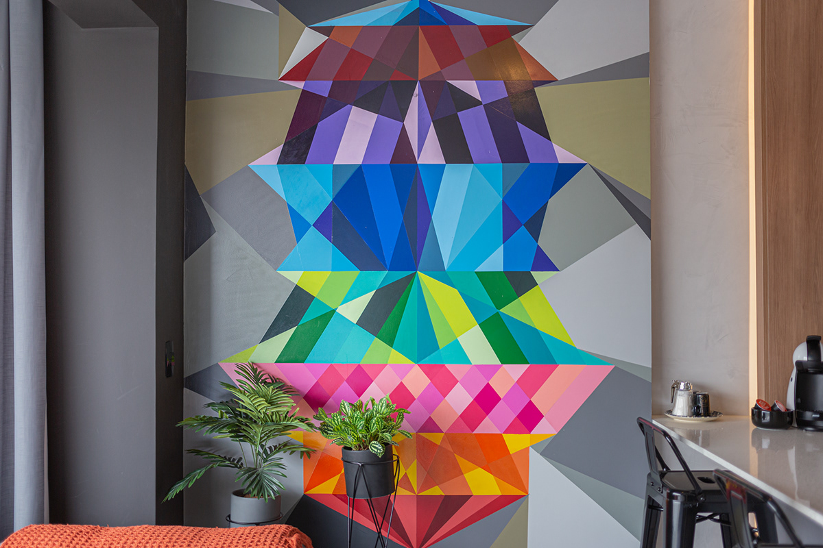 Image may contain: wall, indoor and geometric