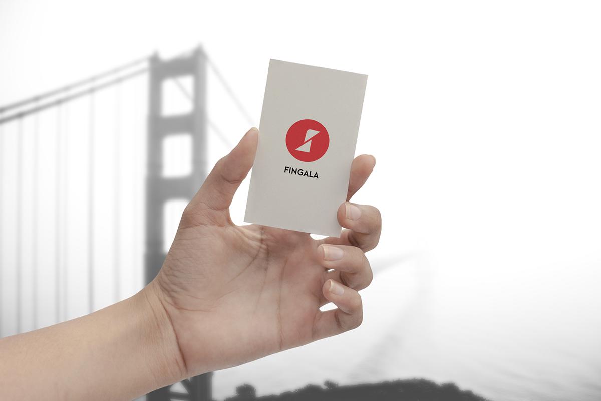 business card vishual SelfID color bright dark red White minimal Logotype