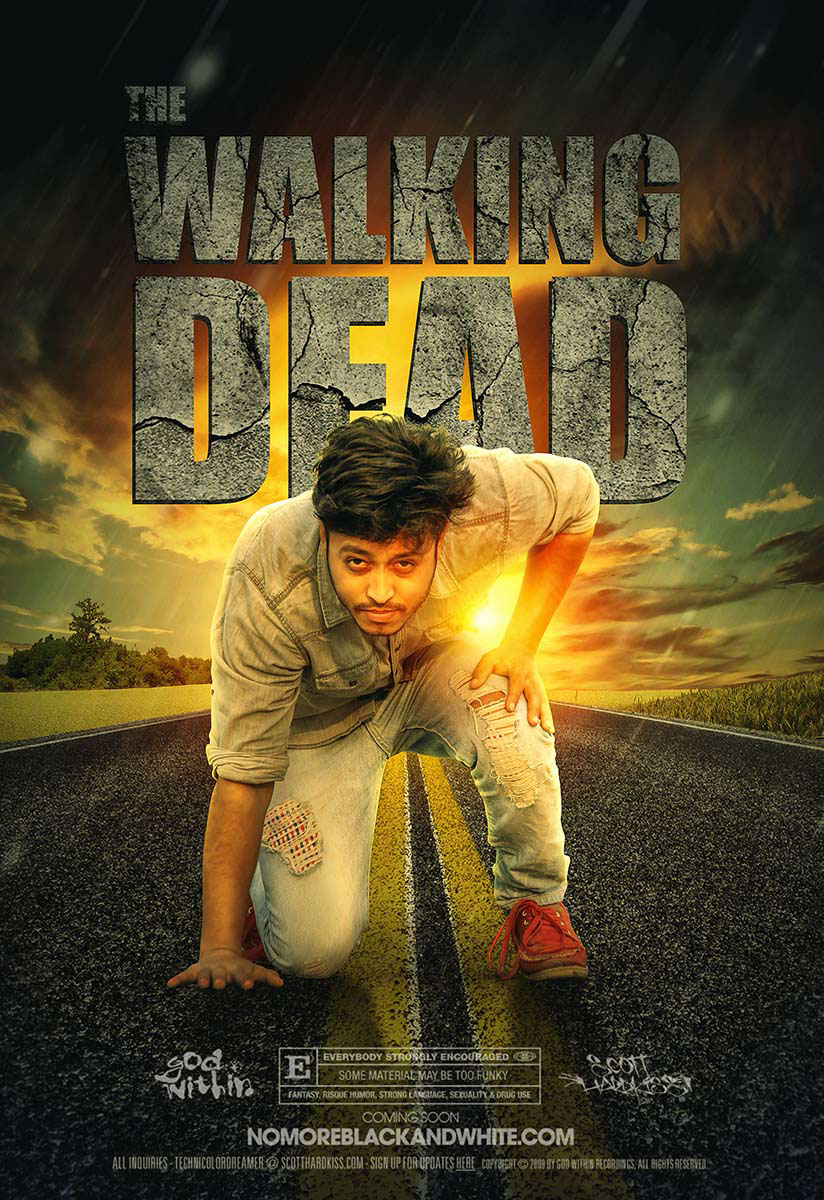 the walking dead movie poster design in photoshop on behance