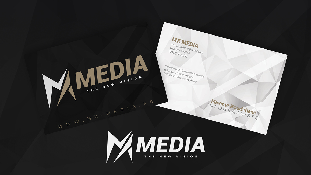 Business Card MX MEDIA on Behance