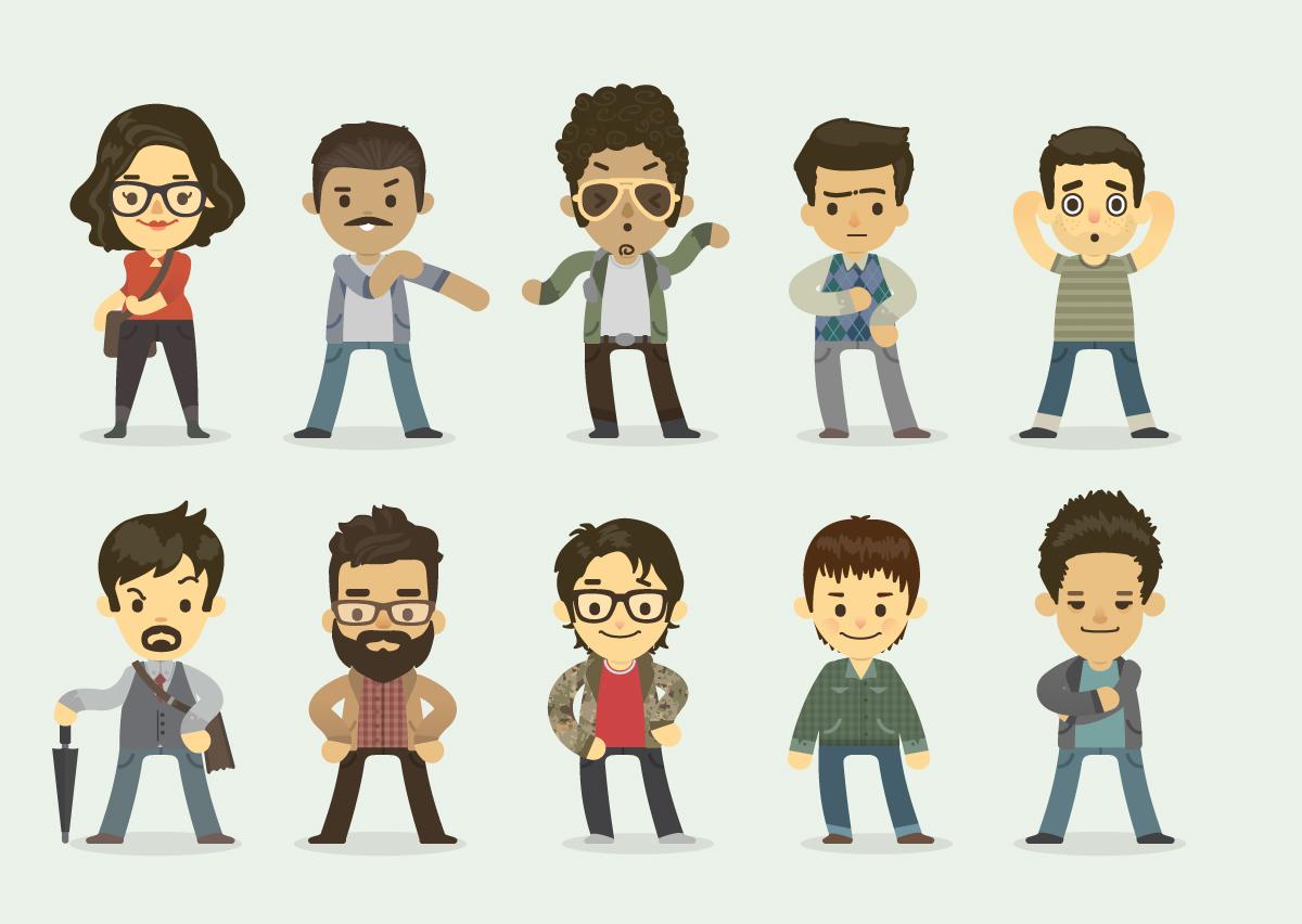Cartoon Characters Creator : Free cute cartoon avatar and character generator on