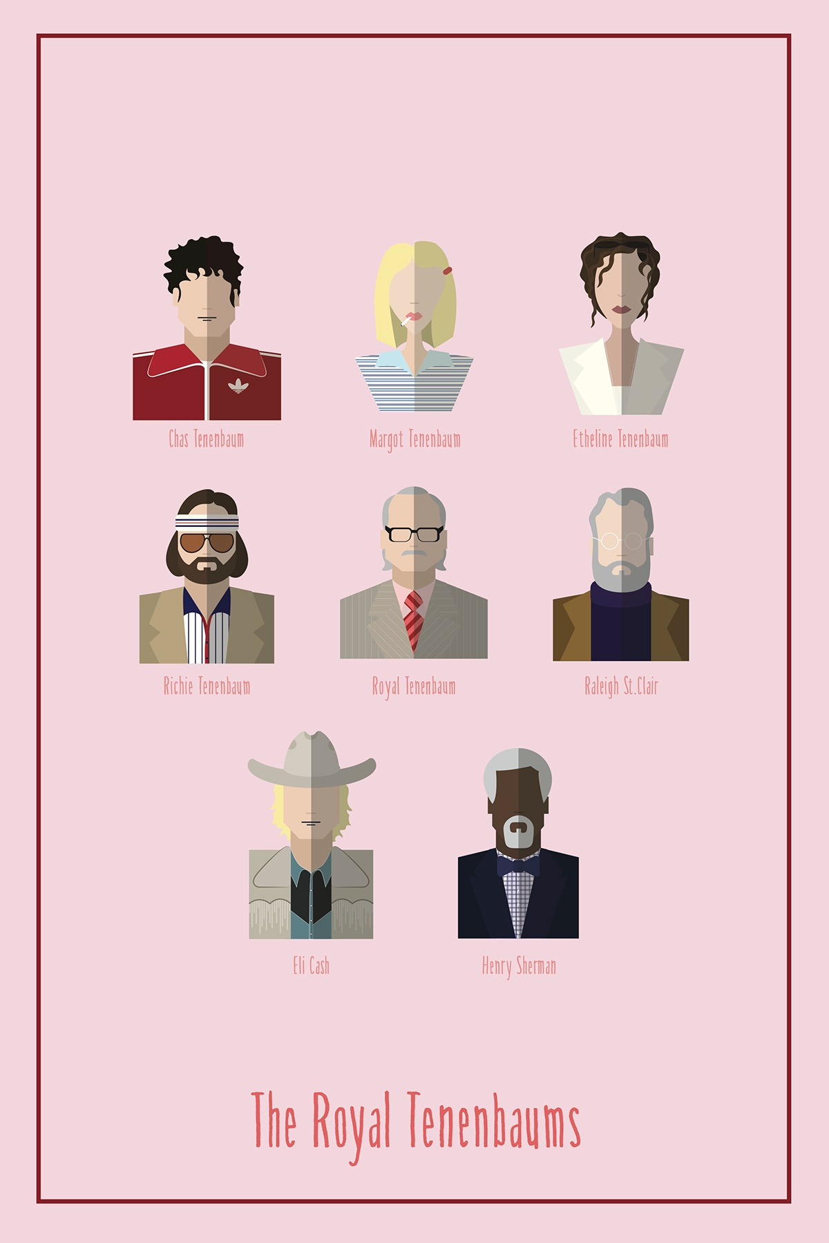 wes anderson characters digital