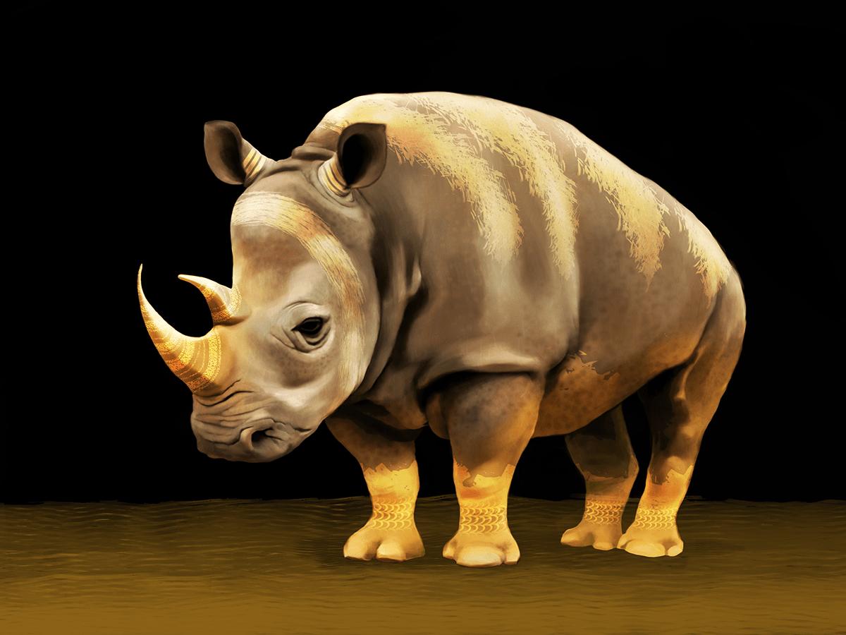 Image may contain: animal, mammal and rhinoceros