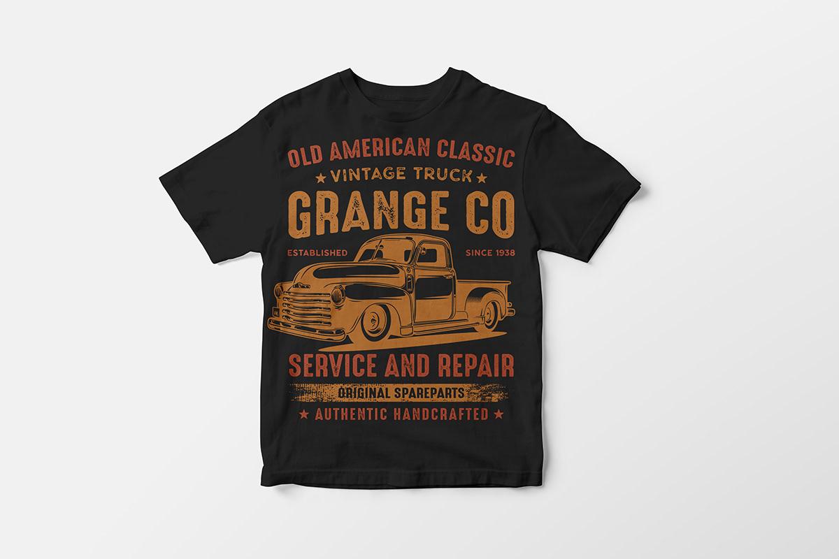 Vintage Truck T Shirt Design Bundle On Student Show