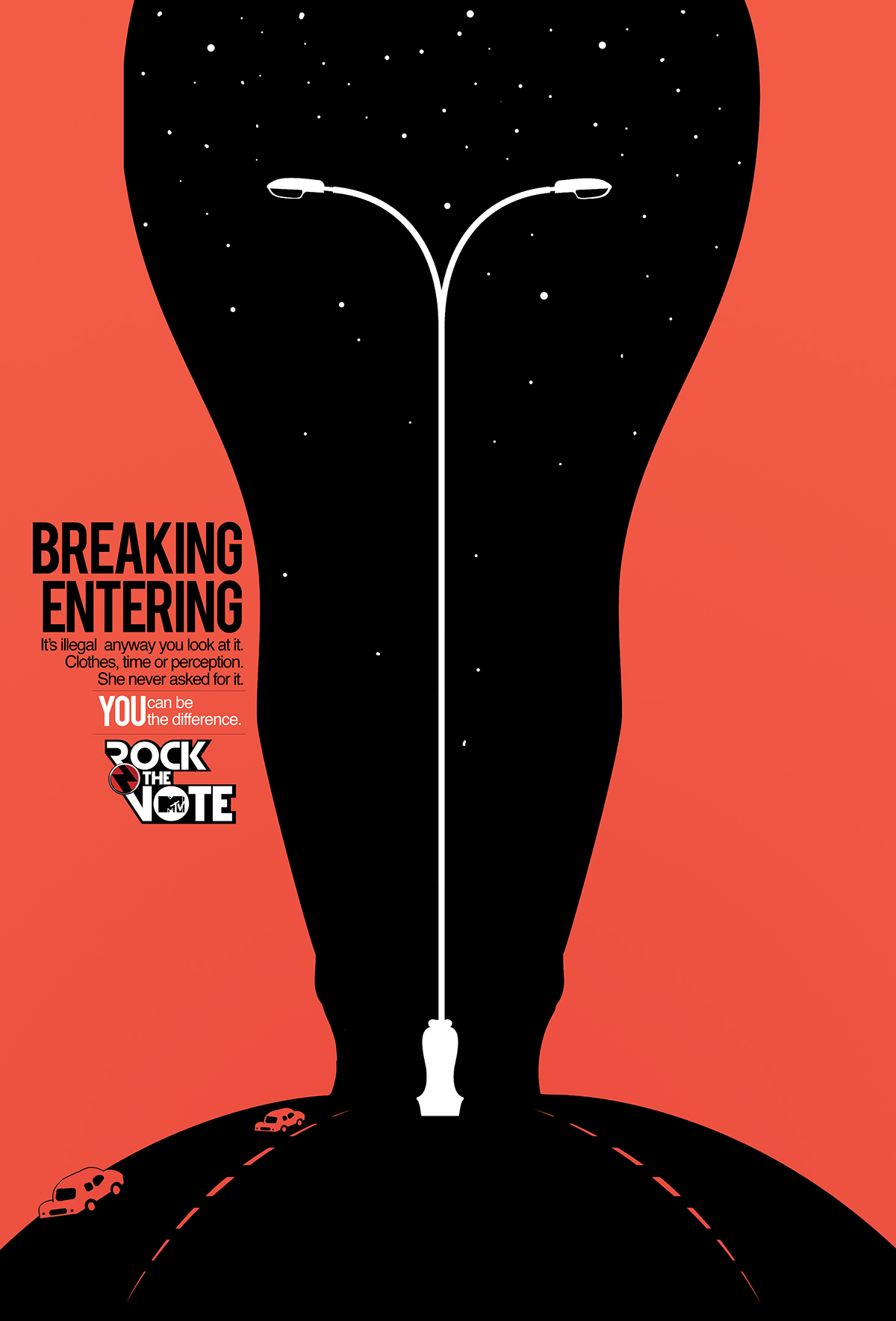 mtv rock the vote poster series on behance