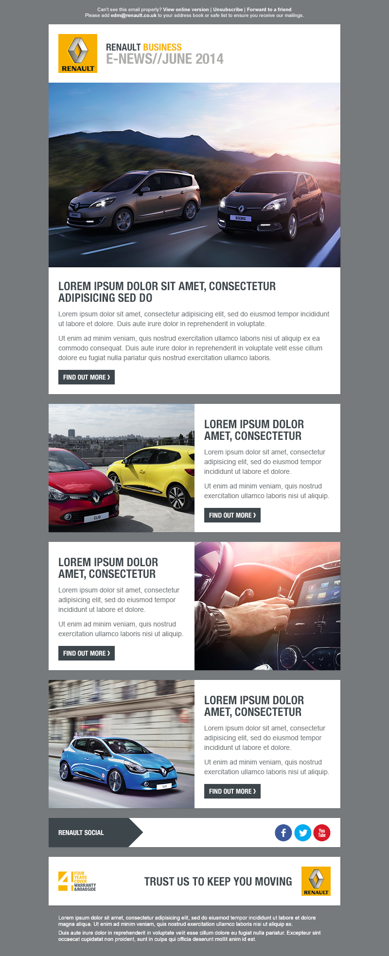 Renault Newsletter Templates Live Work On Behance