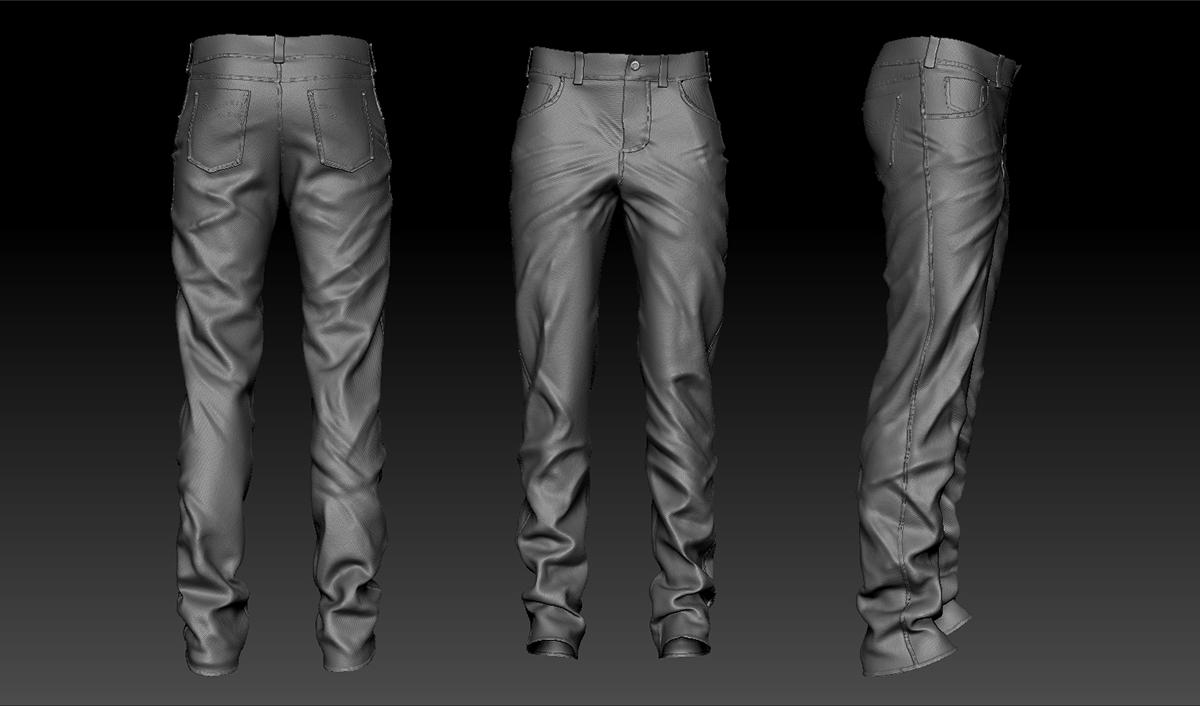 marvelous designer Zbrush keyshot jeans blue jeans pants pantalon en marvelous noise maker