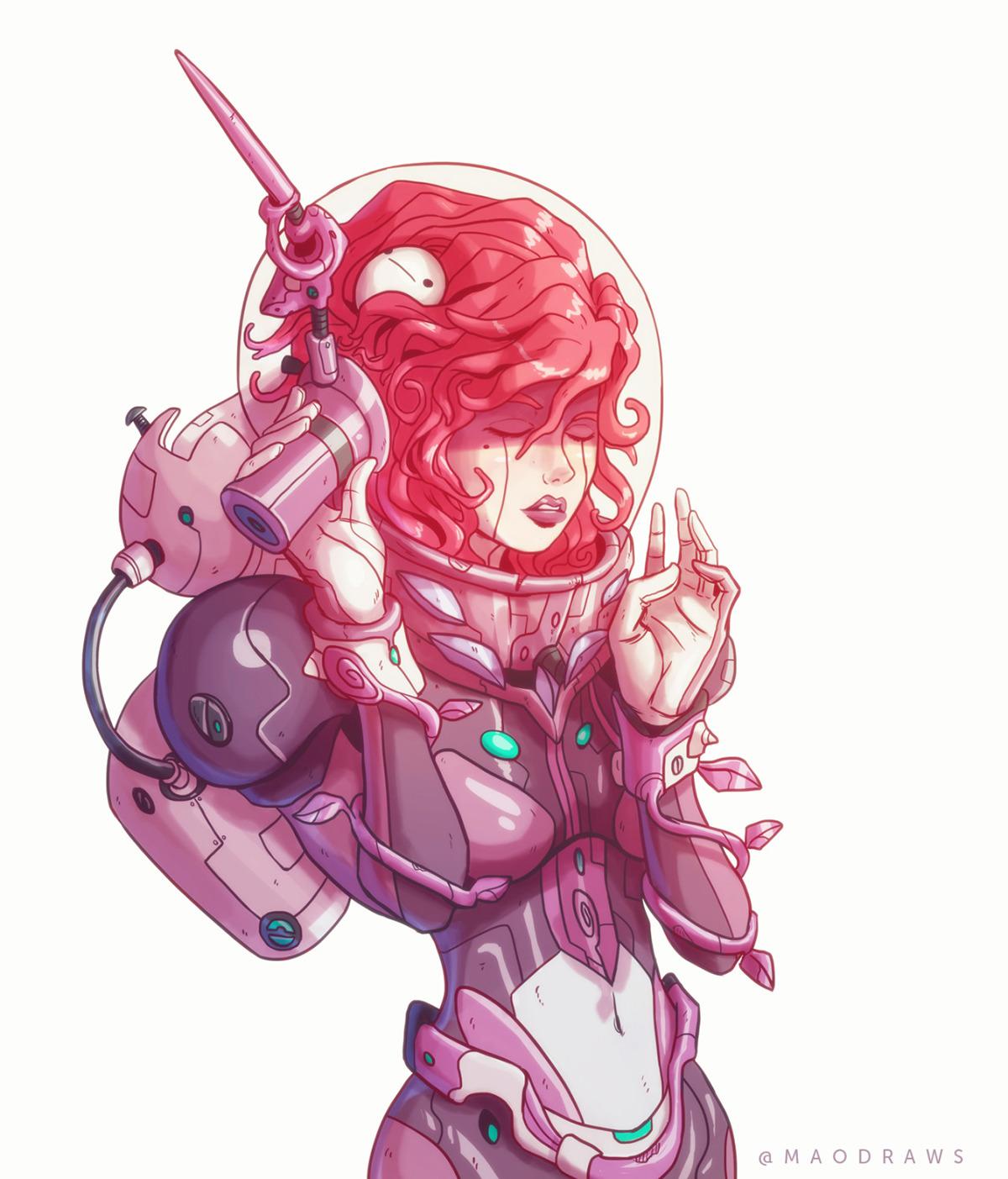 Space Girl On Behance
