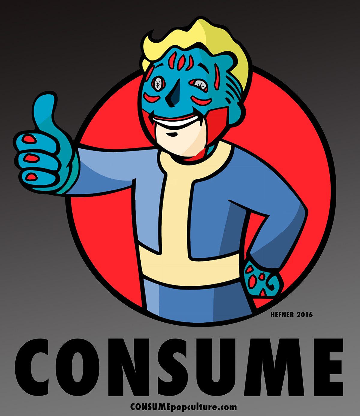 vault boy fallout consume on behance