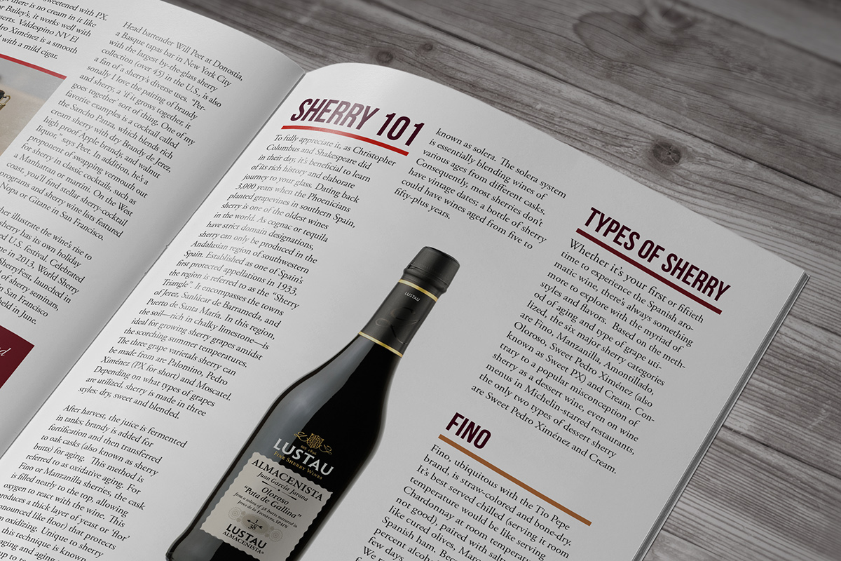 Wines Spirits Magazine Spread On Behance