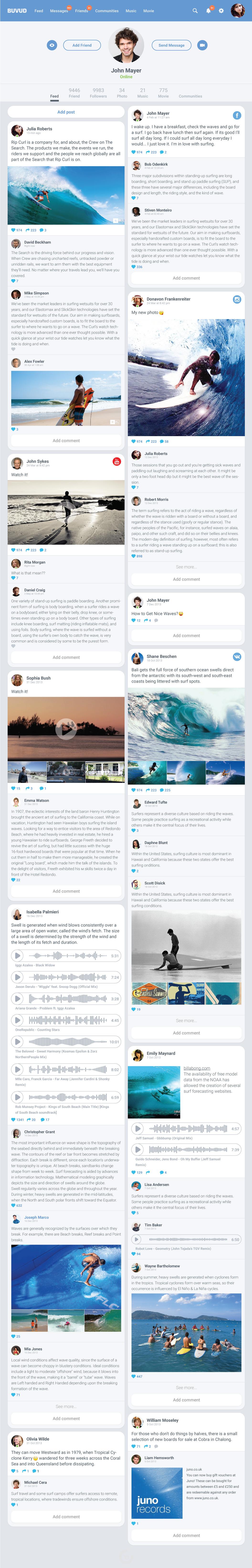 Social Net socialnet UI ux Web account