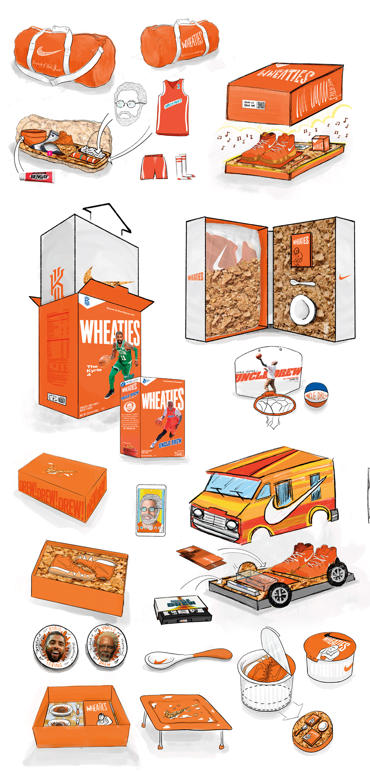 online store 7e7fe fd580 Uncle Drew Wheaties Kit on Behance