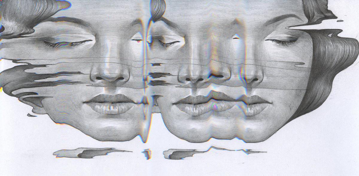 Guru California magazine ILLUSTRATION  portrait sketch draw workingprocess