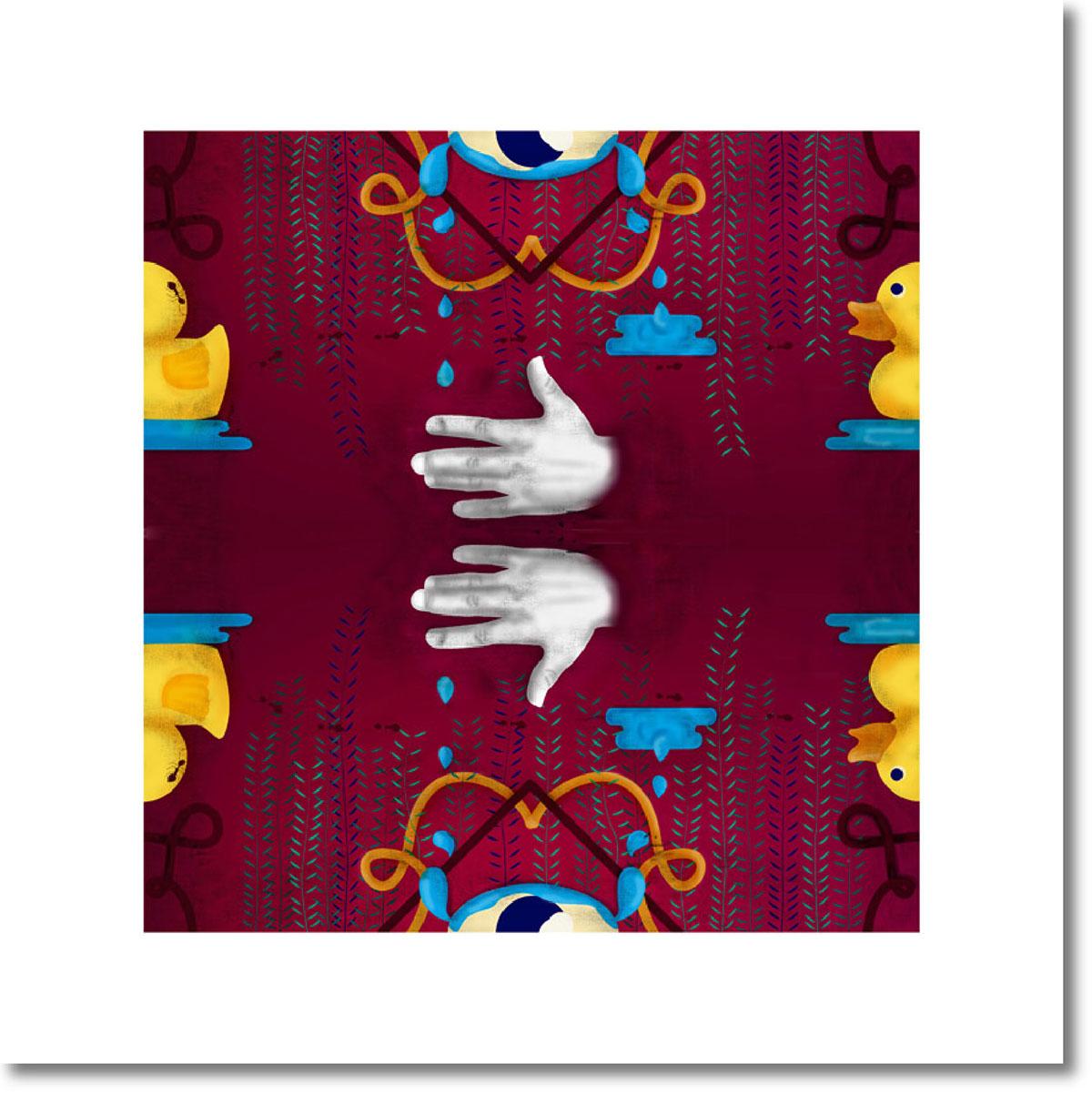 book book illustration Julio Cortázar pattern duck hand plants october pattern october