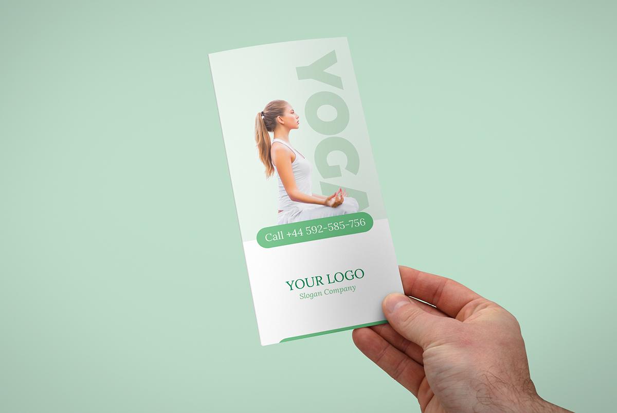 Brochure – Yoga Tri-Fold Template on Pantone Canvas Gallery