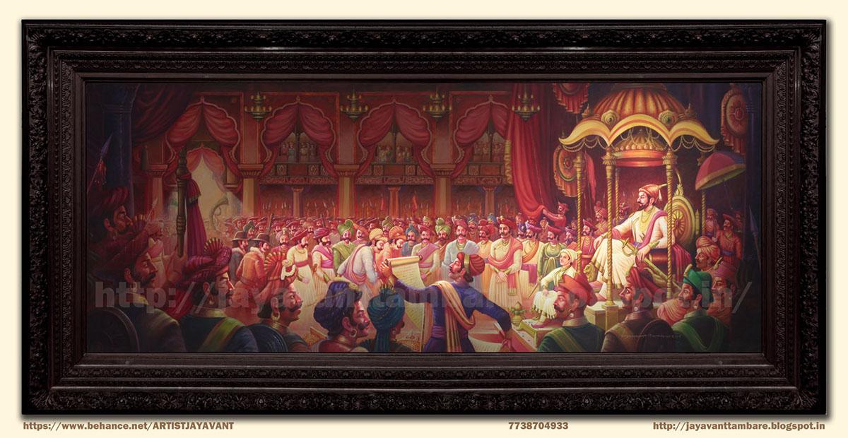 Chhatrapati Shivaji Maharaj Rajyabhishek Painting On Behance