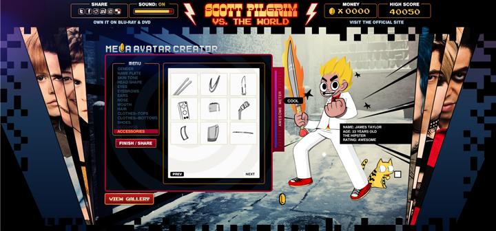 Scott Pilgrim VS  The World - Avatar Creator on Behance