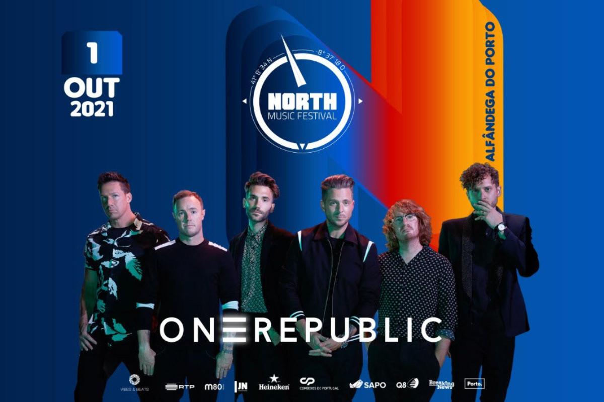 OneRepublic a 1 de outubro no North Music Festival