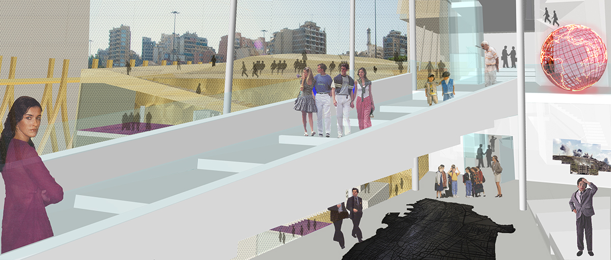 Beirut arts culture Competition Travertine Ramp