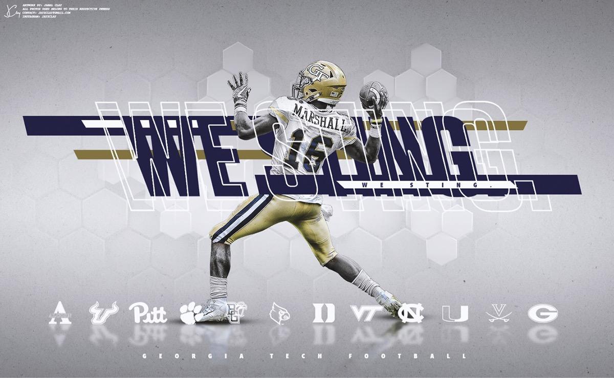 Georgia Tech Football (Personal Project) on Behance